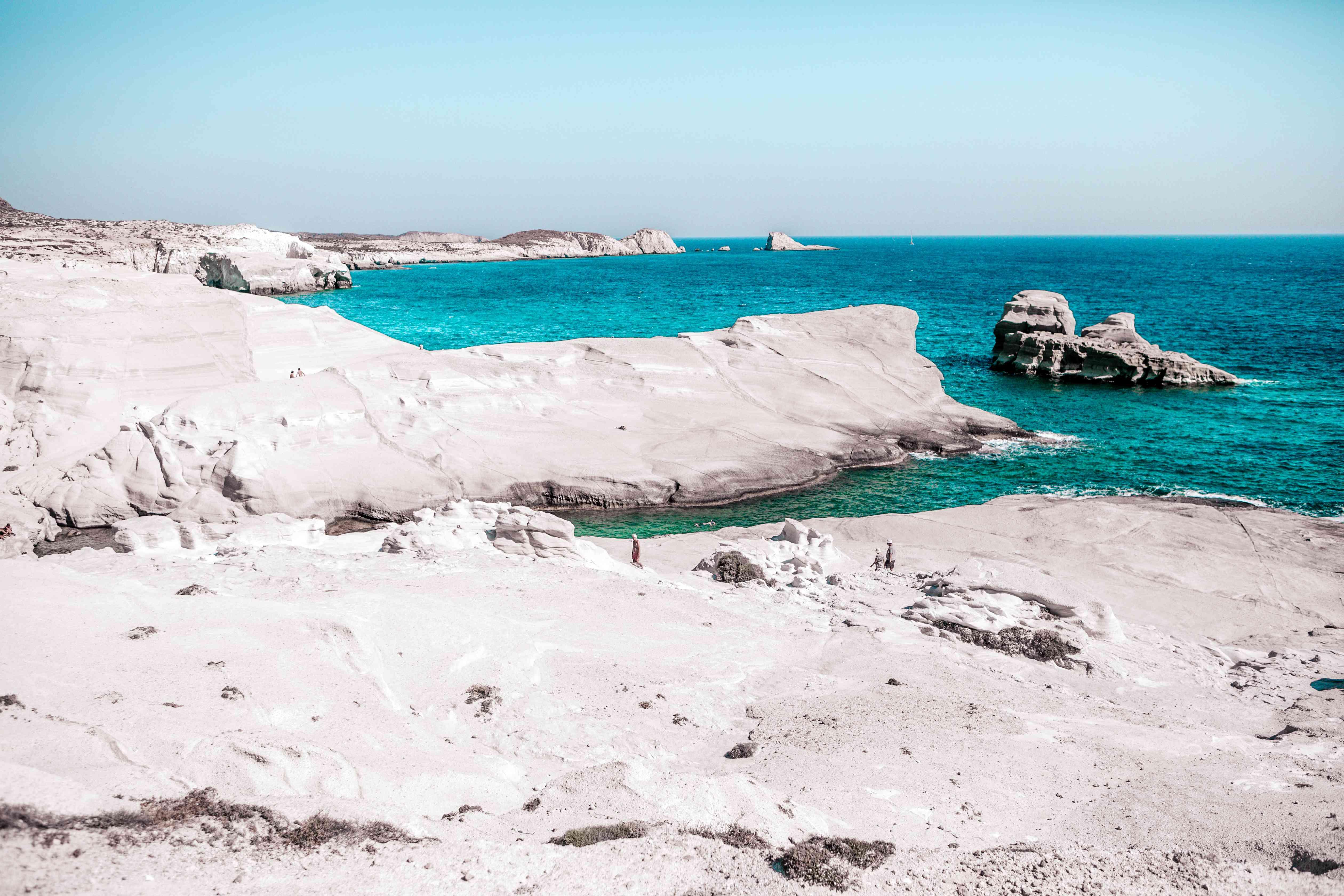 Sarakiniko pinturesque beach in MILOS,GREECE