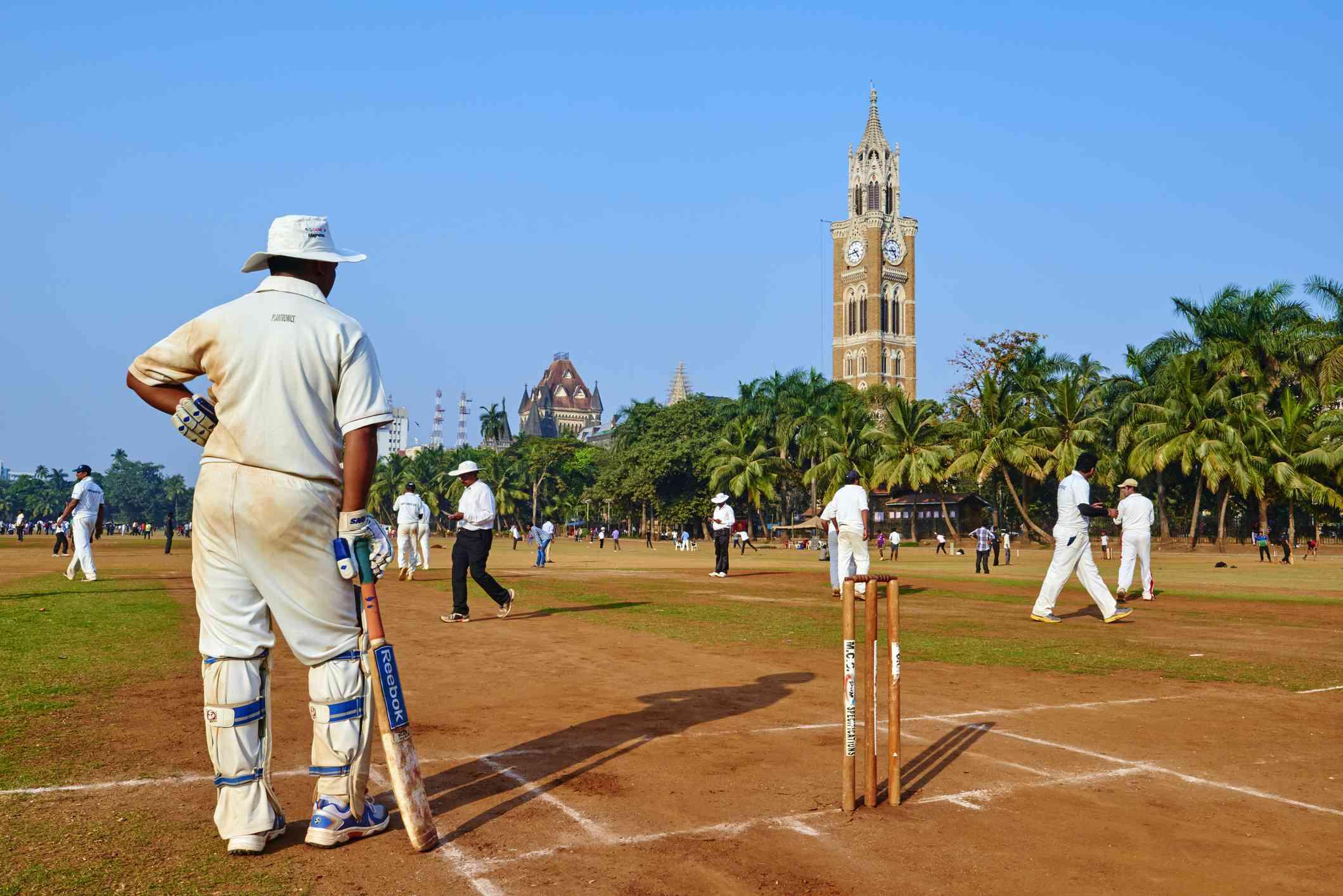 Oval Maidan, Mumbai. Cricket game.