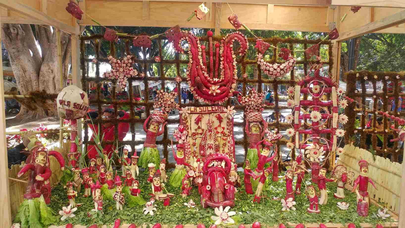 Display for Oaxaca's radish festival