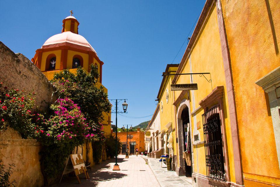 Colonial city of San Sebastian Bernal in Queretaro State