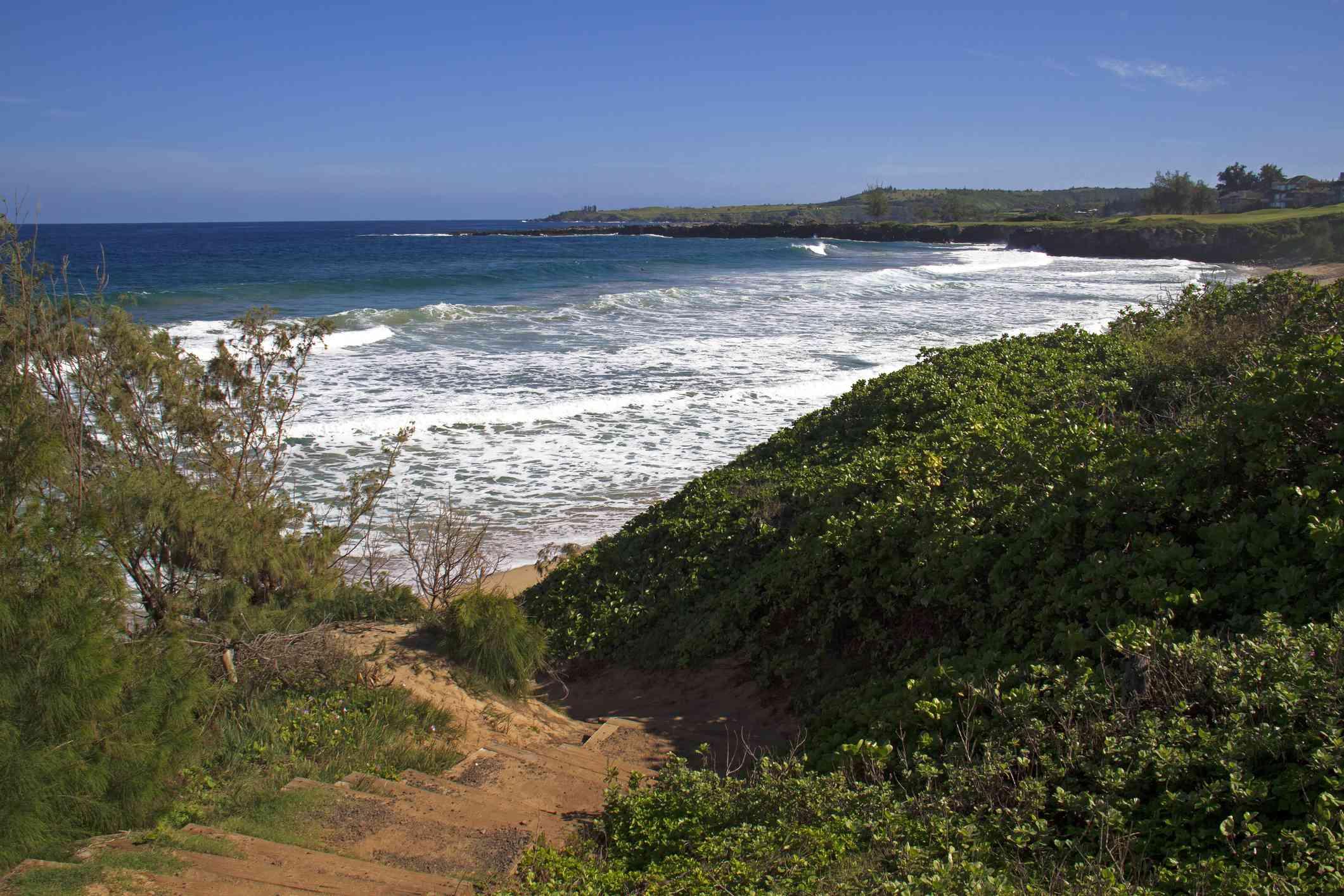 The beach on Kapalua Coastal Trail