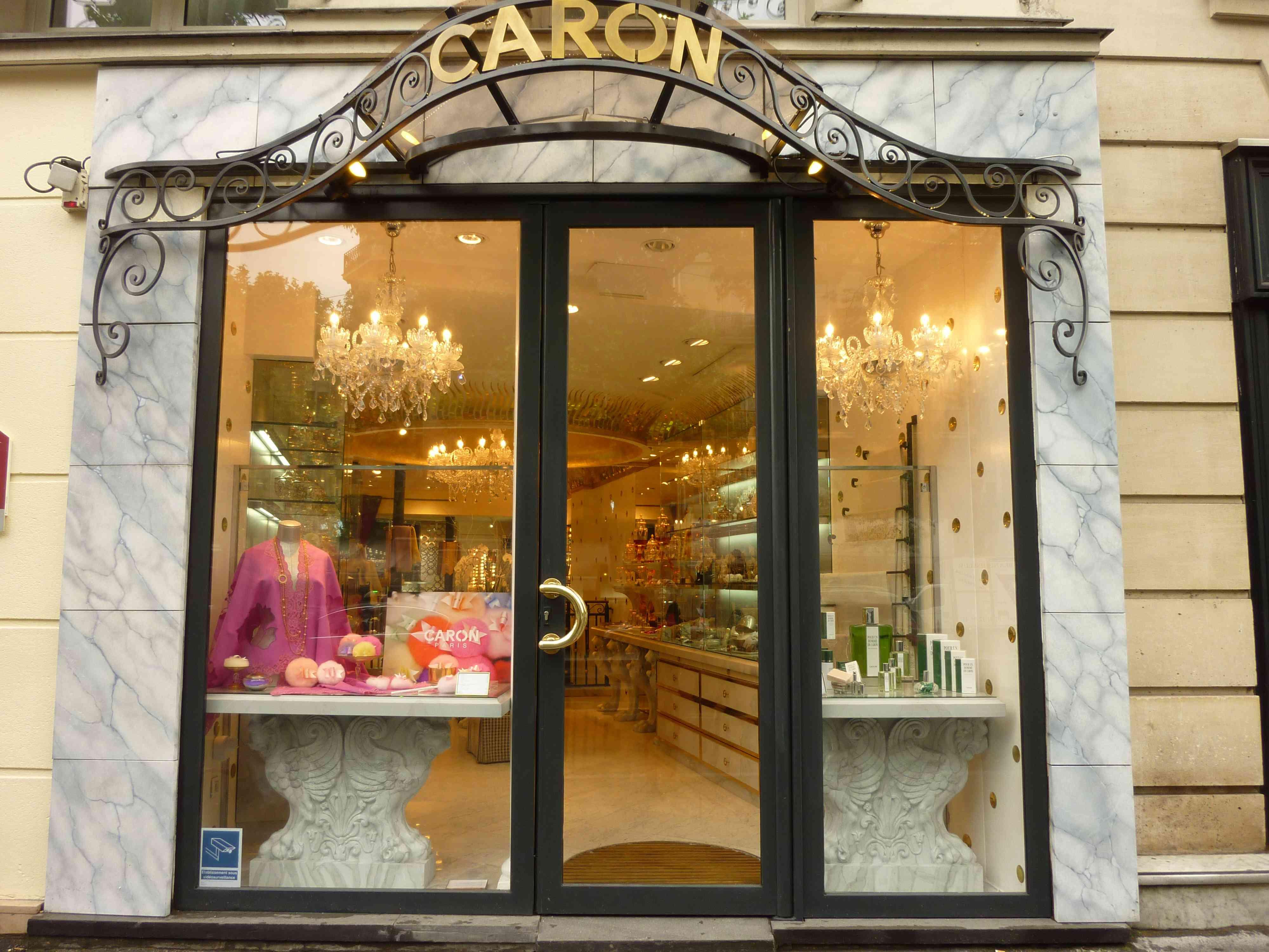 Caron perfume shop in Saint-Germain, Paris