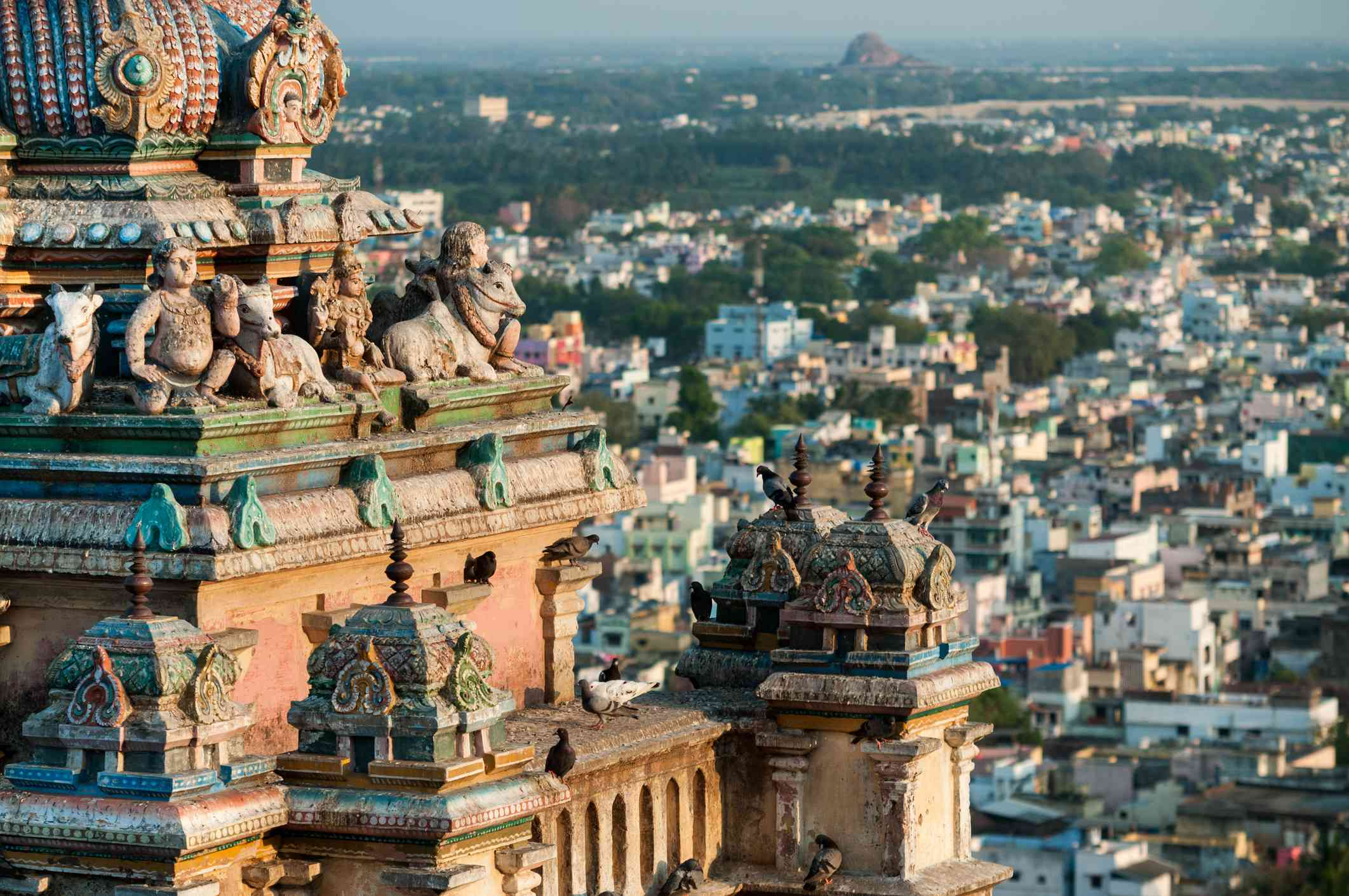 Overview of the Trichy city from Rockfort Temple, Tamil Nadu