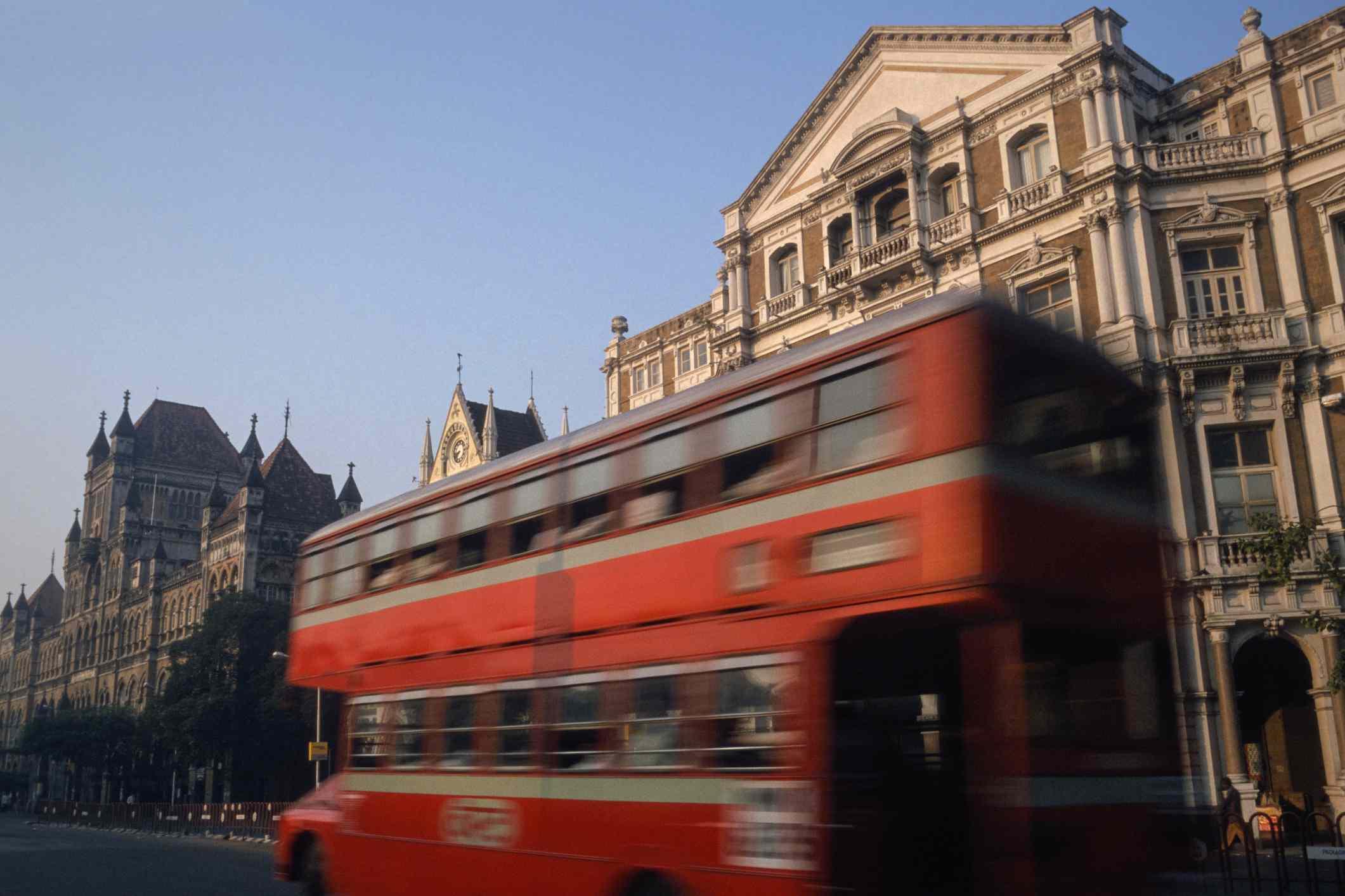 Double decker bus in Mumbai.