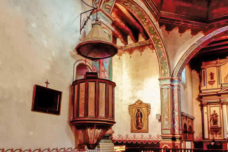 Pulpit at Mission San Luis Rey