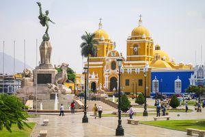 Central square in Trujillo, Peru