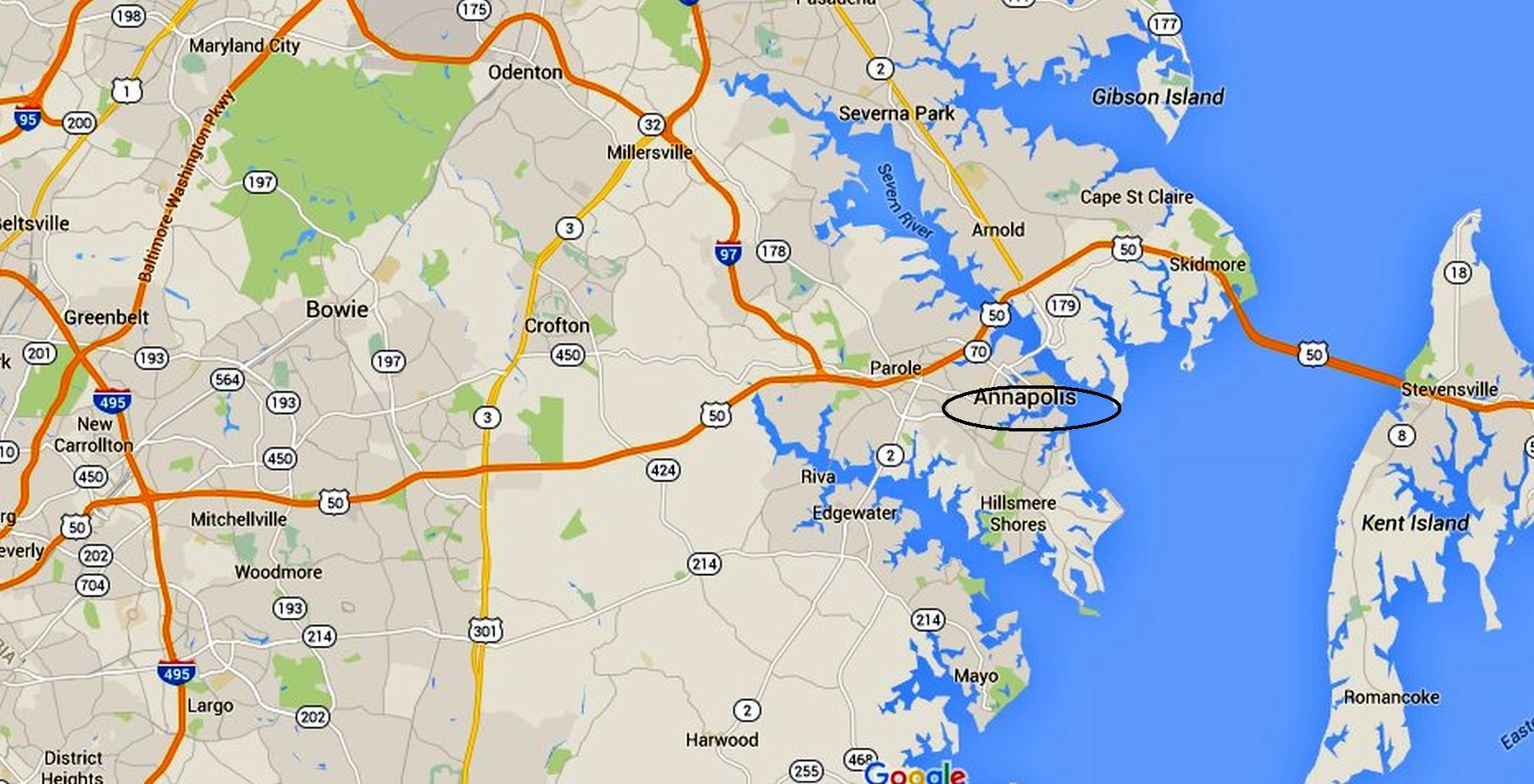 Annapolis Maps Downtown And The Surrounding Area