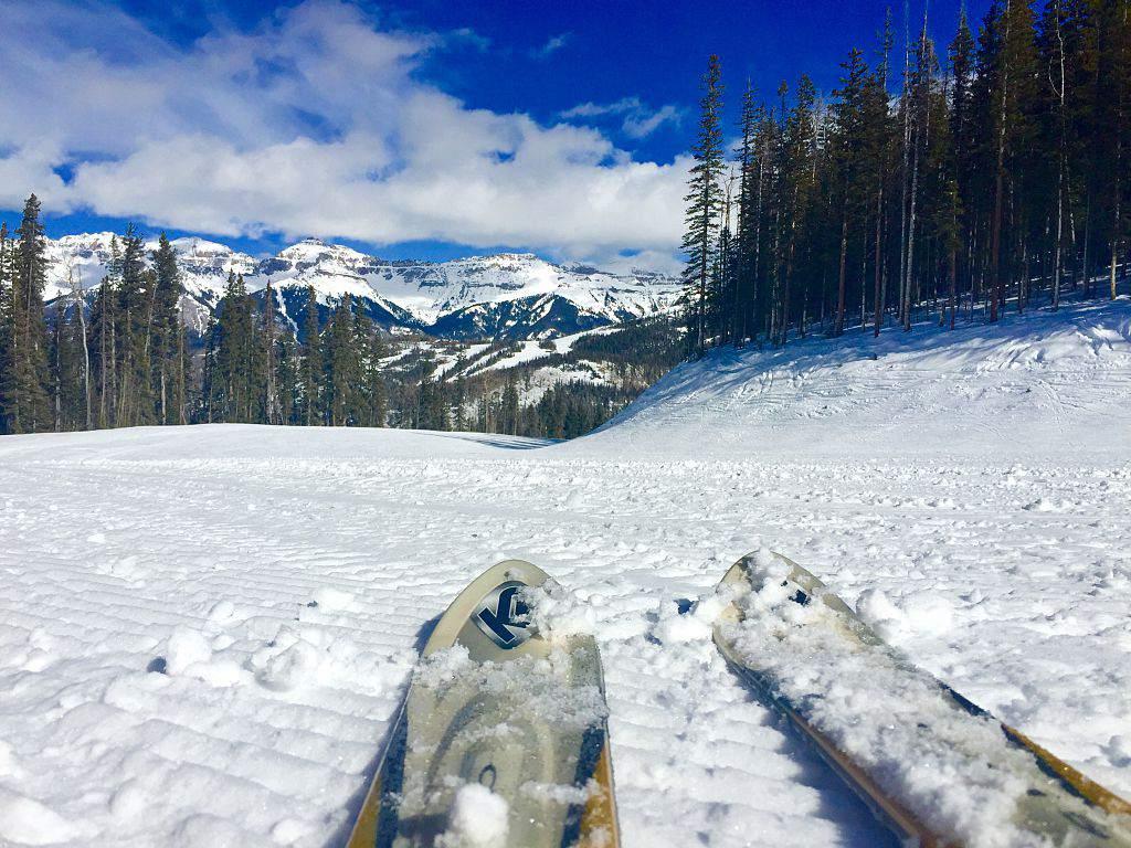skiing POV