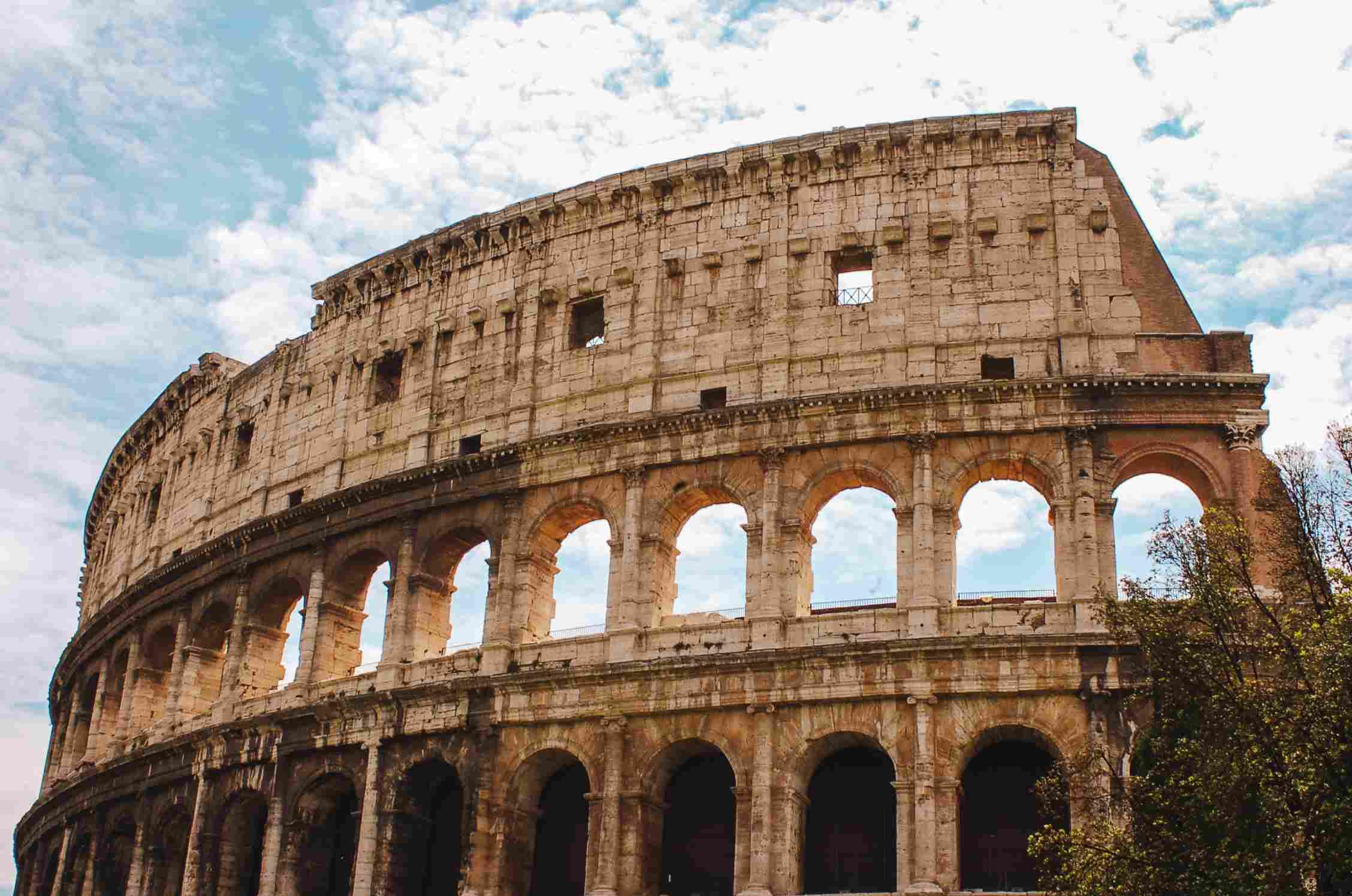 El exterior del Coliseo Romano