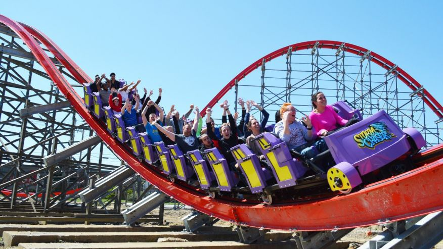 Storm Chaser coaster at Kentucky Kingdom