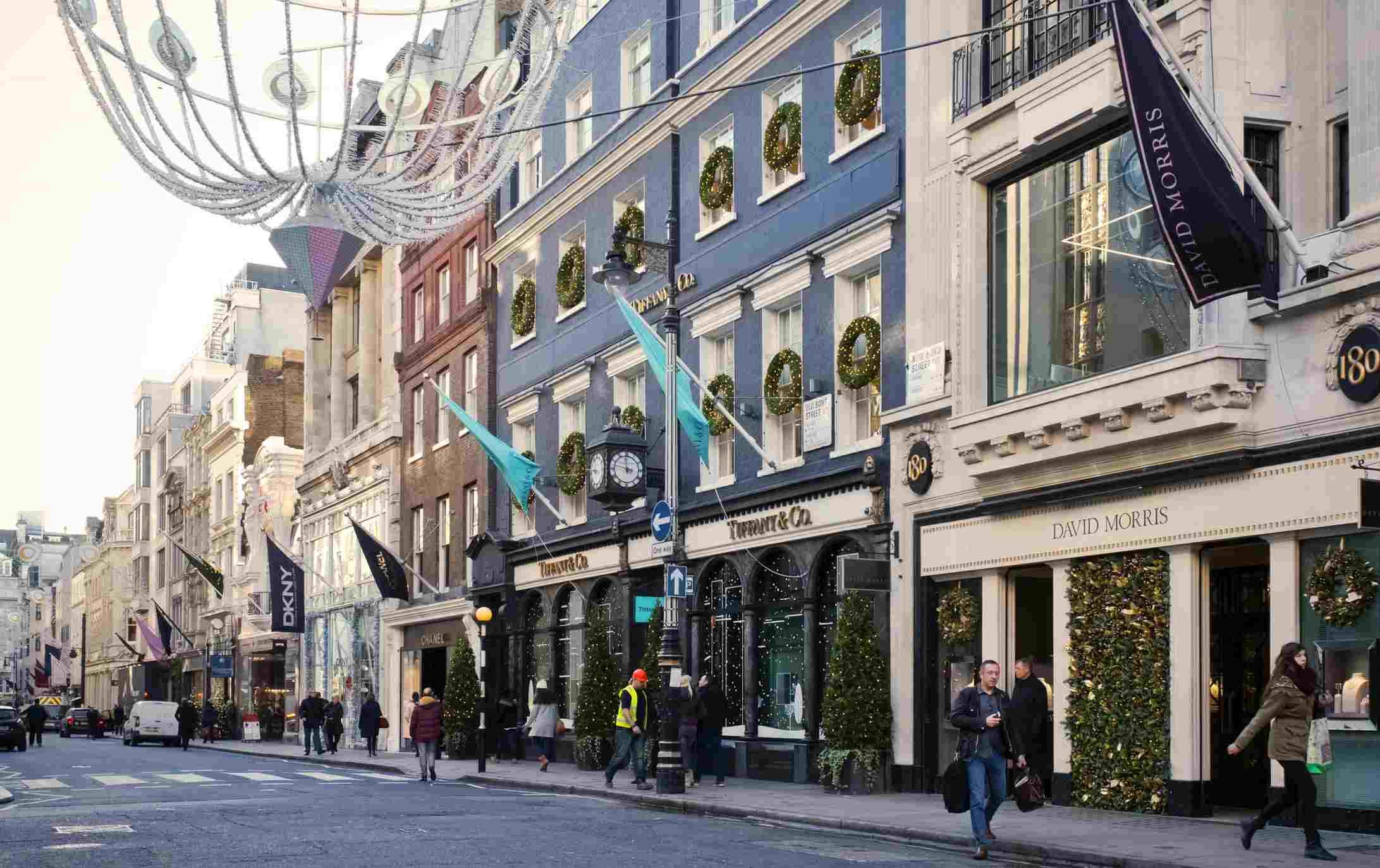 New Bond Street at Christmas, London