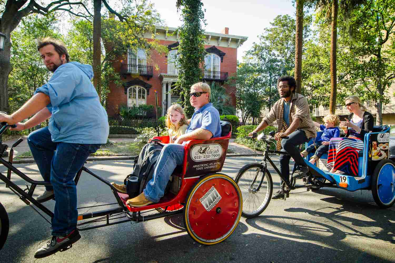 Pedicab ride through the Historic District of Savannah