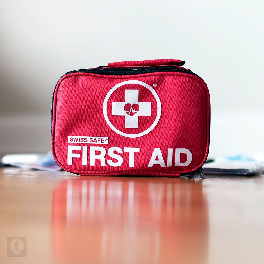 Swiss Safe 120-Piece First Aid Kit