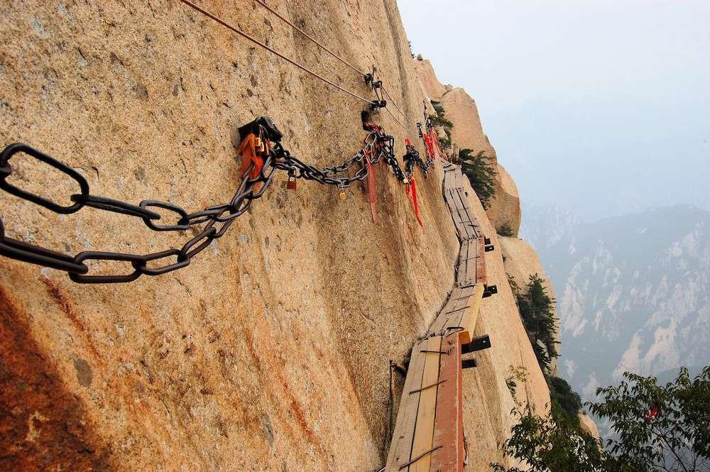 Sendero de senderismo del Monte Hua Shan, China