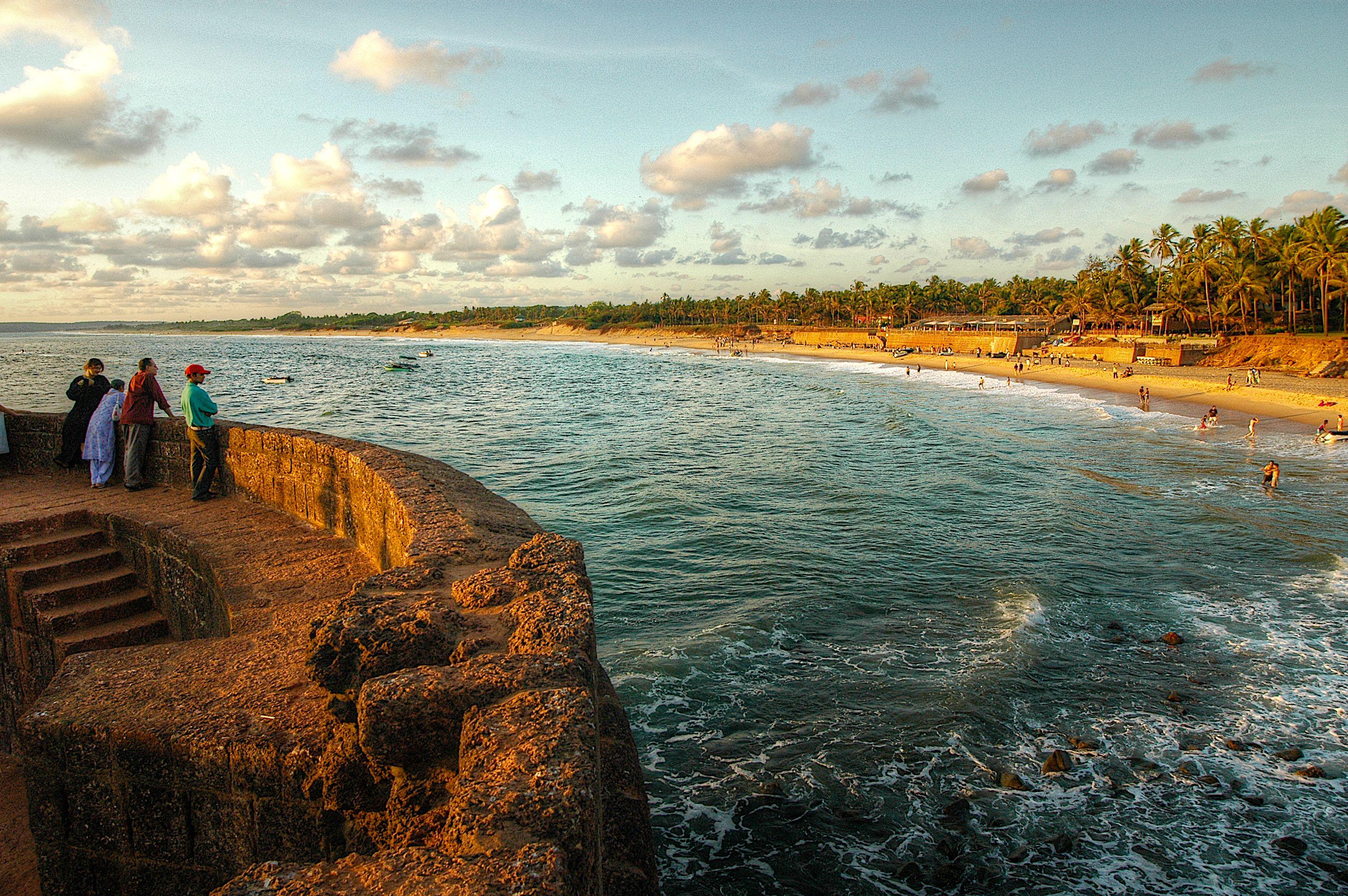 Fort Aguada , Playa Candolim en Goa