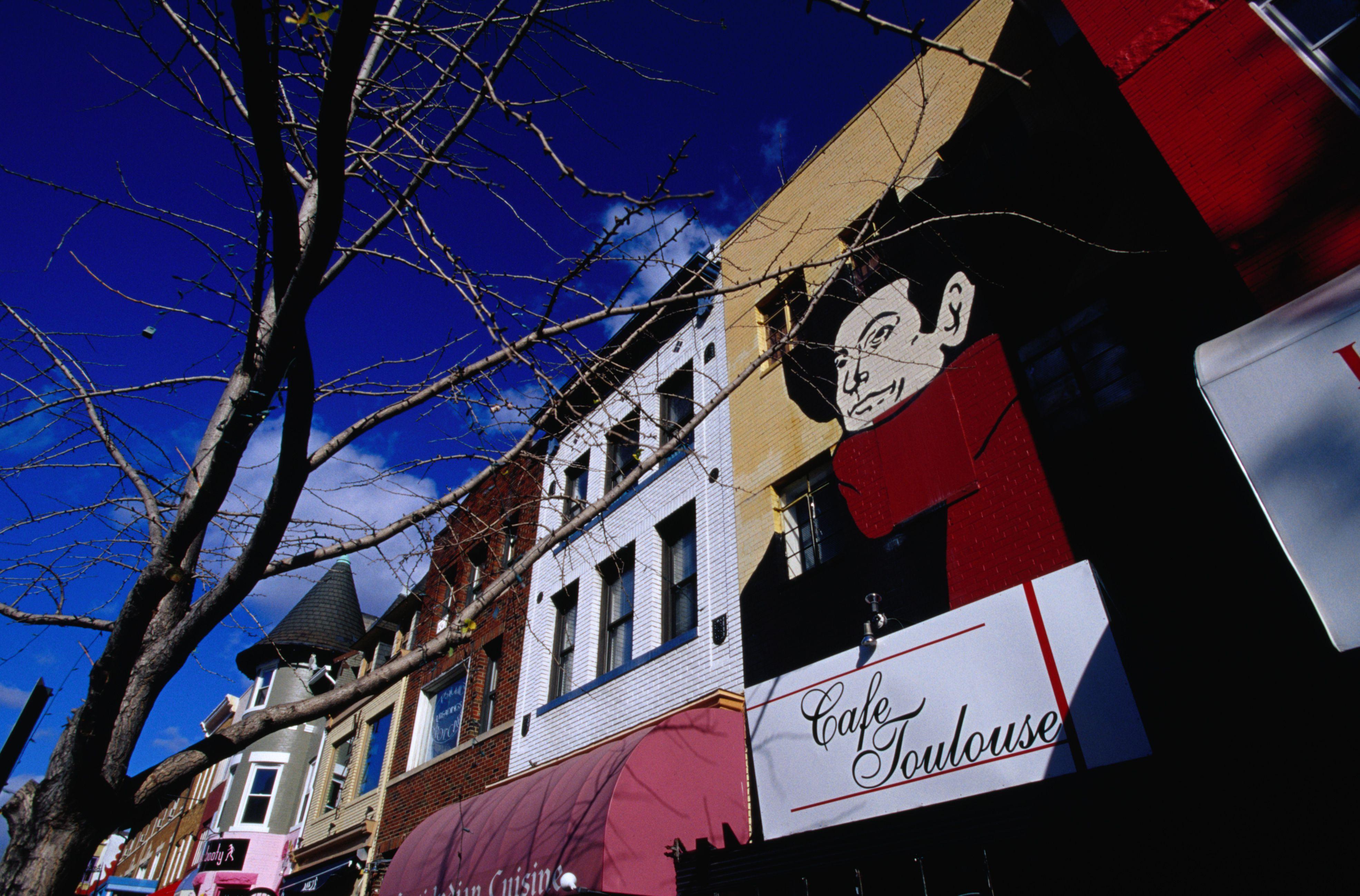 18th Street facades in Adams Morgan.