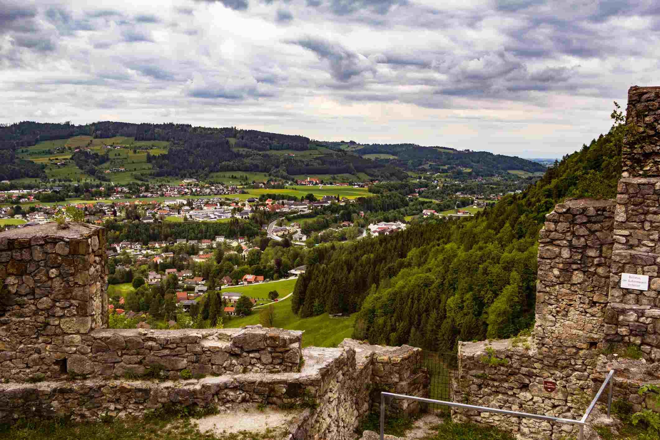 View from the Scharnstein Ruins, Austria