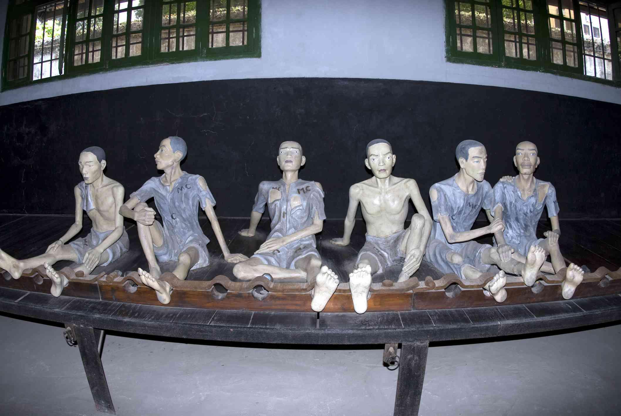 Stockade in Hoa Lo Prison
