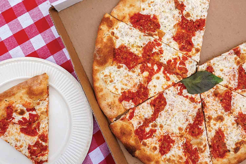 Pizza from Grimaldi's Pizzeria in Brooklyn