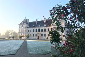 Chateau Ancy le Franc in winter