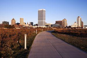 Jogging path in Milwaukee, Wisconsin.