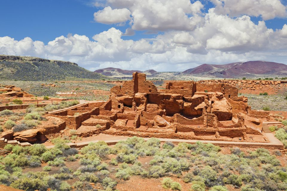 red stone ruins of Wuptaki National Monument