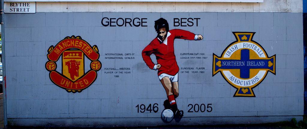 George Best mural in Belfast