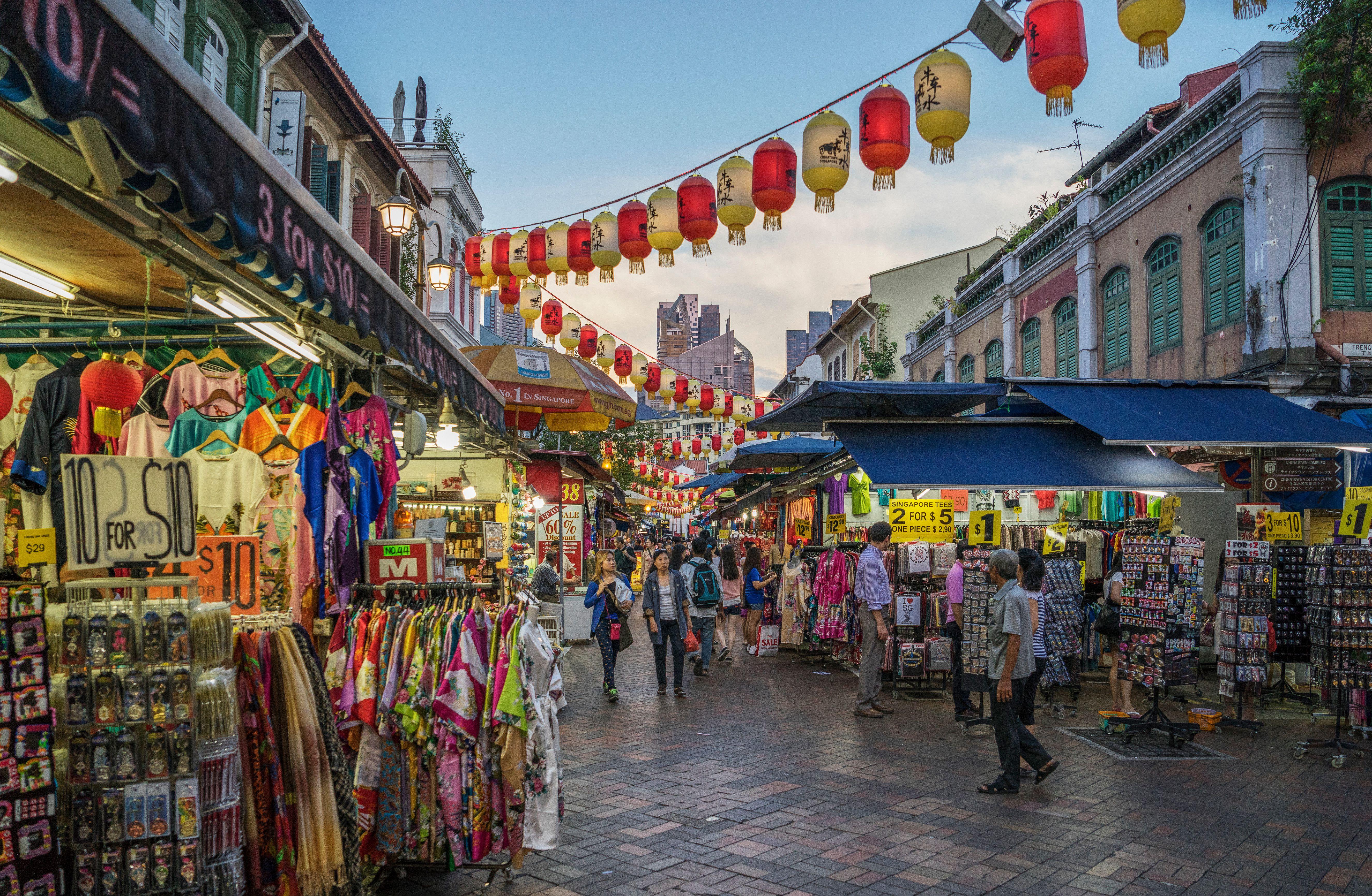 Chinatown Night Market in Singapore