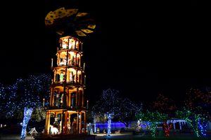 Christmas light display in Fredericksburg