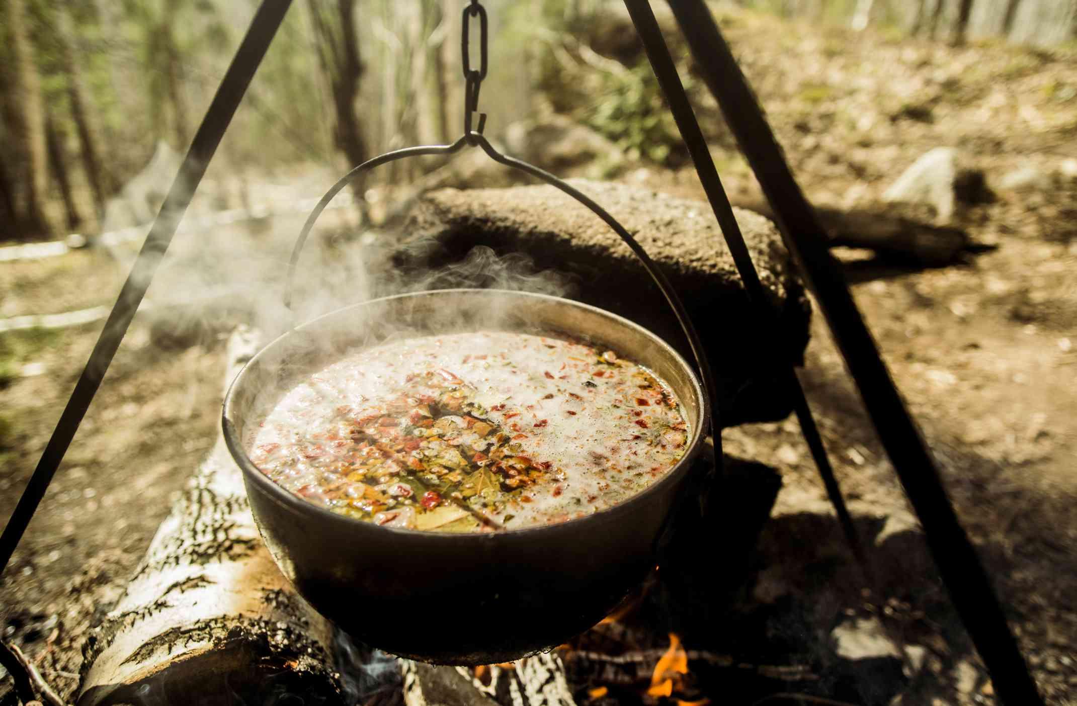 Cocinar en un horno holandés