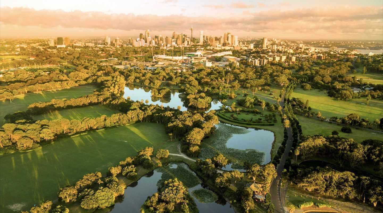 Aerial view of Centennial Parklands