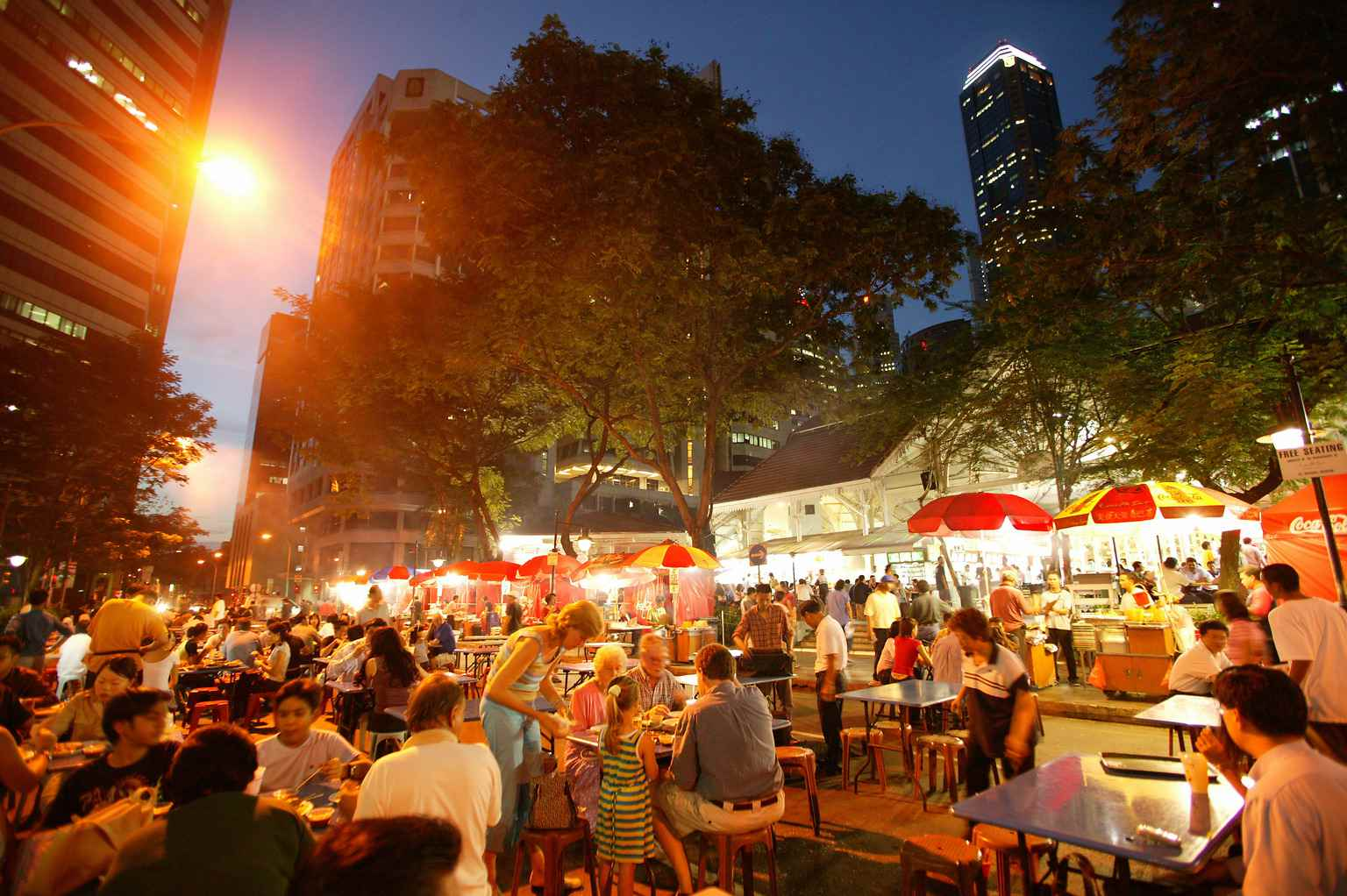 Dining At Lau Pa Sat Festival Market In Singapore