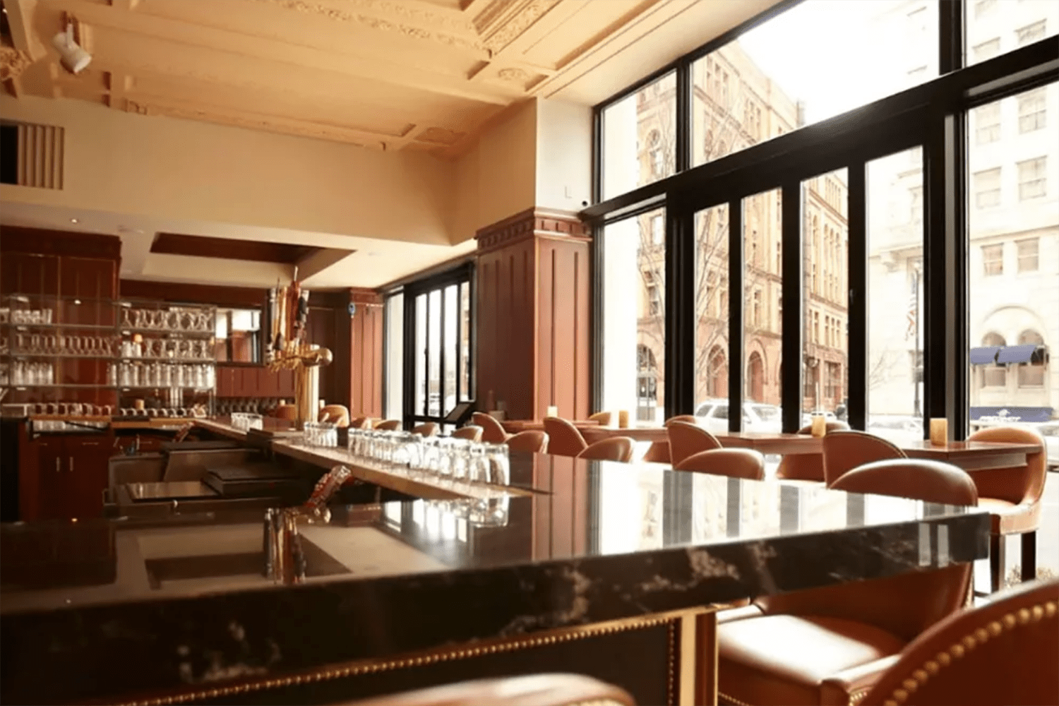 An inside look at the bar at Grill 23 & Bar in Boston