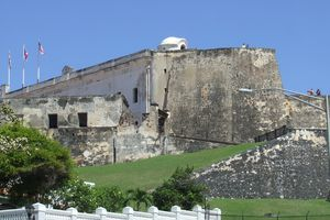 Fortress Wall at Castillo San Cristobal in San Juan, Puerto Rico