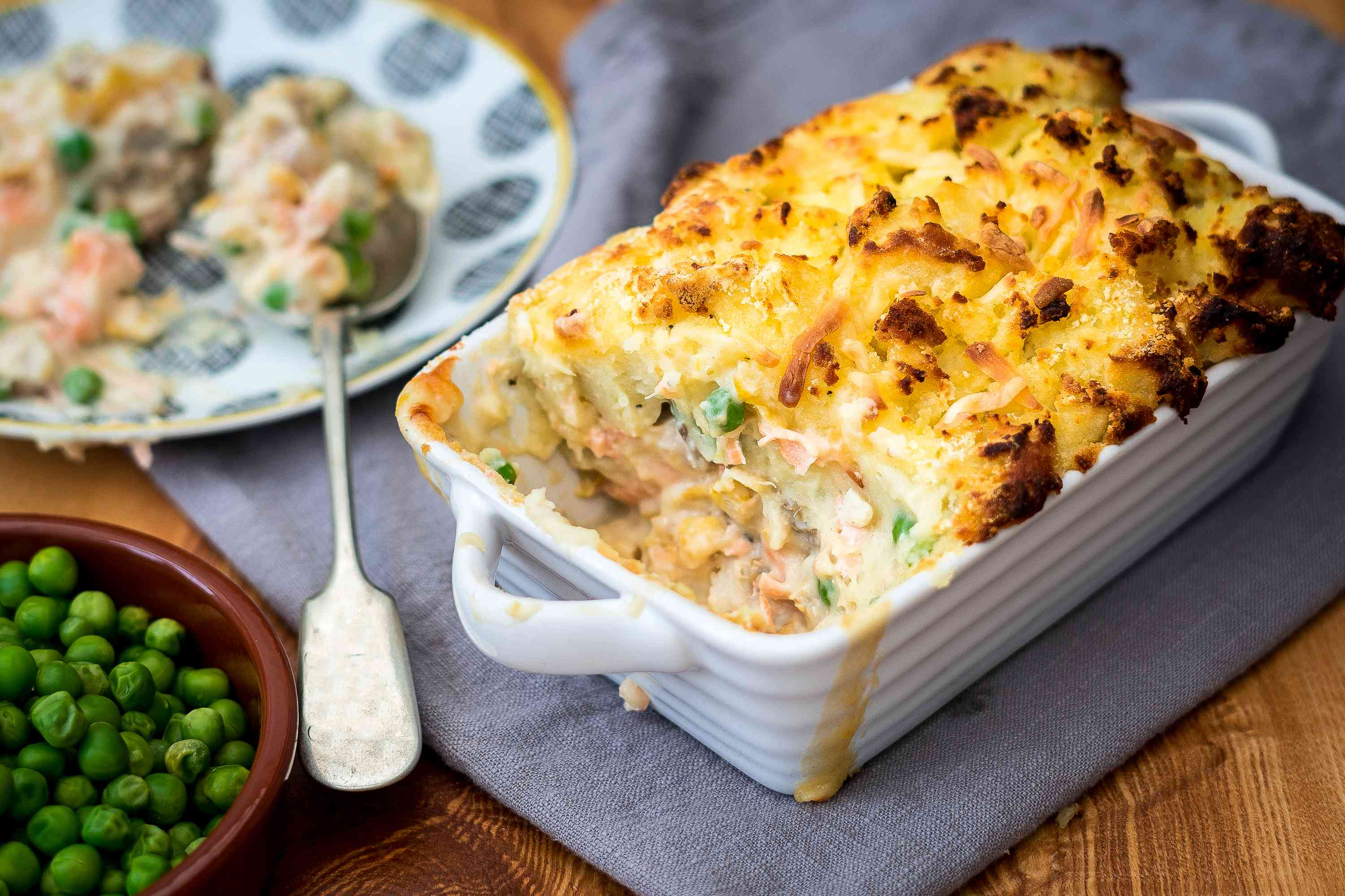 Fish Pie with cheesy potato topping