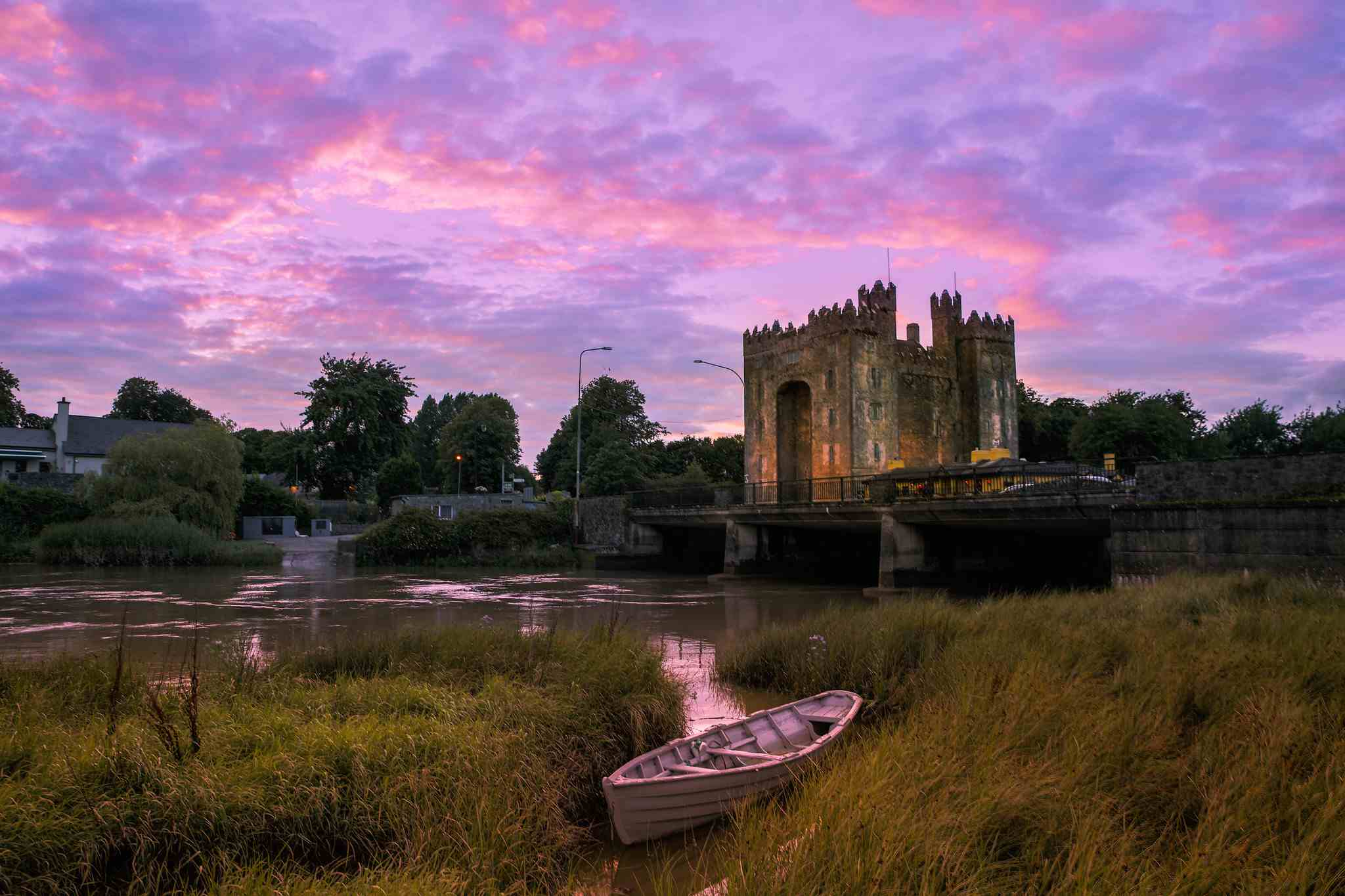 Bunratty Castle at sunset