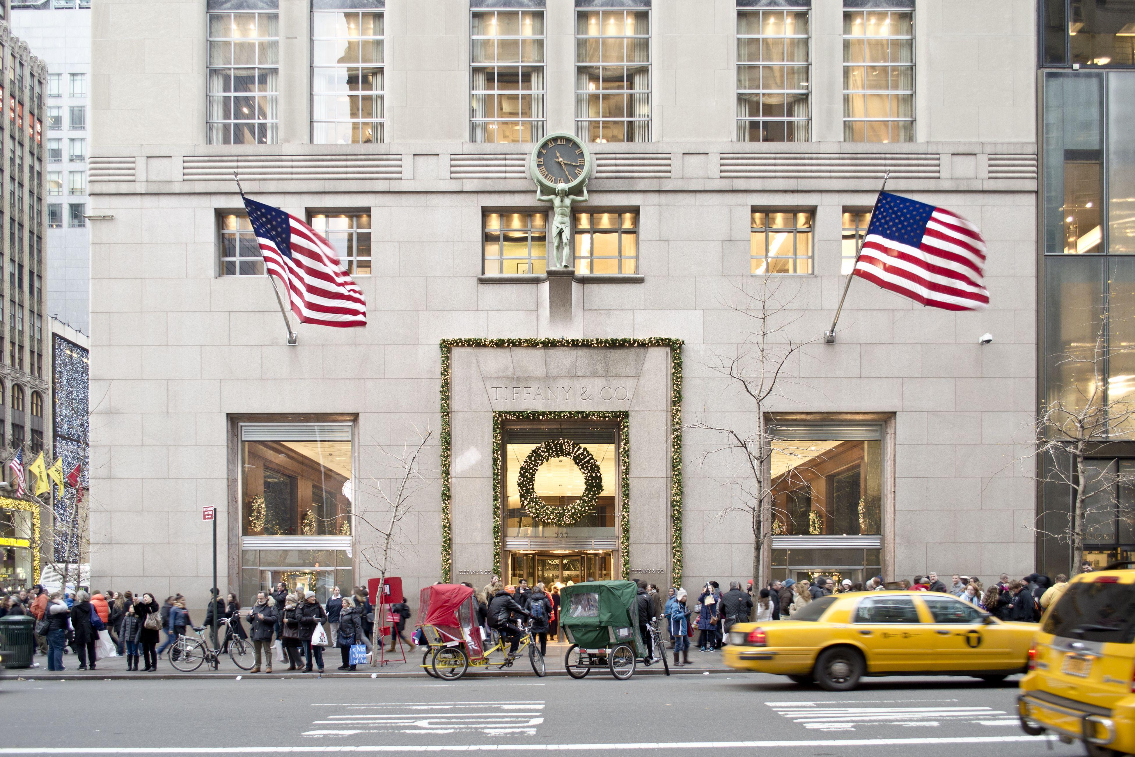 Tiffany & Co. Fifth Avenue Manhattan, Christmas Time