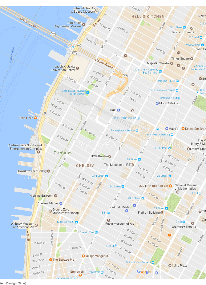 Nyc Subway Map Bam Park.Chelsea And The Garment District Neighborhood Map