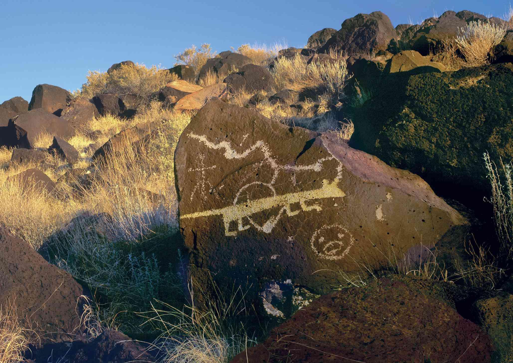 Petroglyph at Petroglyph National Monument