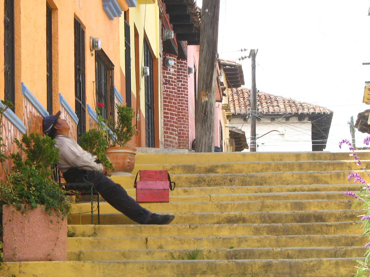 Man sleeping during Siesta