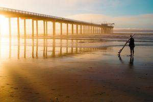 Winter Sunset at Scripps Pier in San Diego