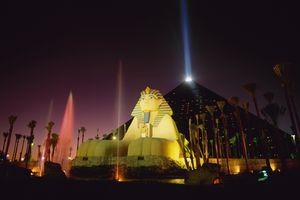 Luxor Hotel and Casino at night, Las Vegas, Nevada