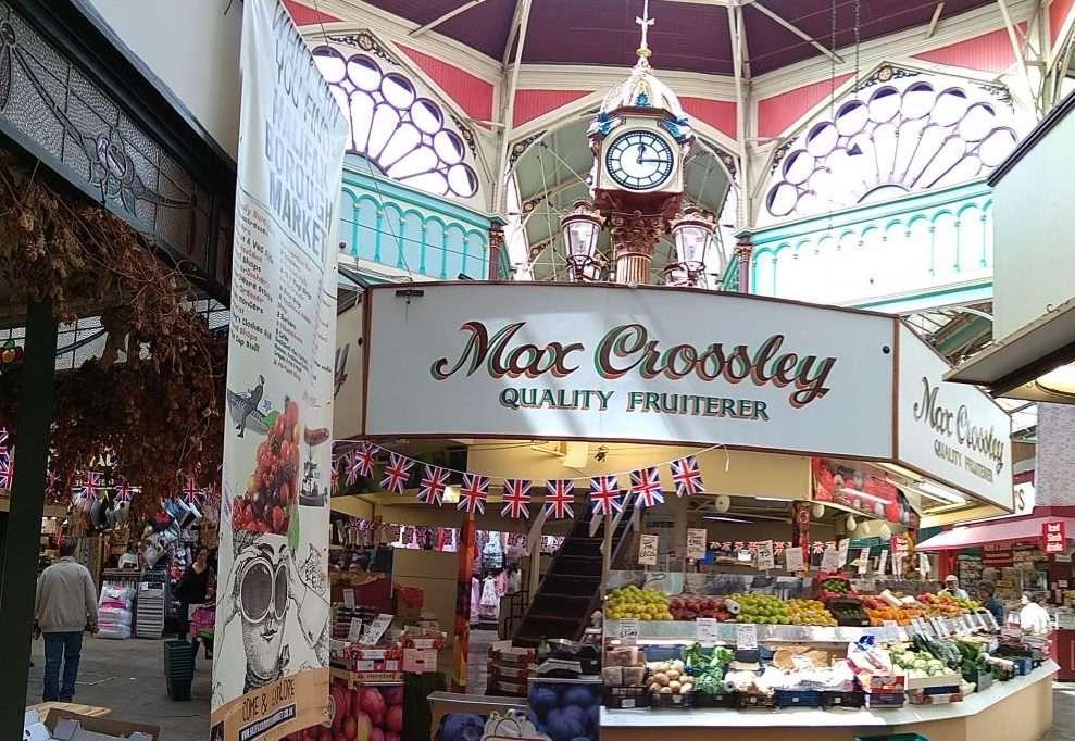 Borough Market in Halifax, England