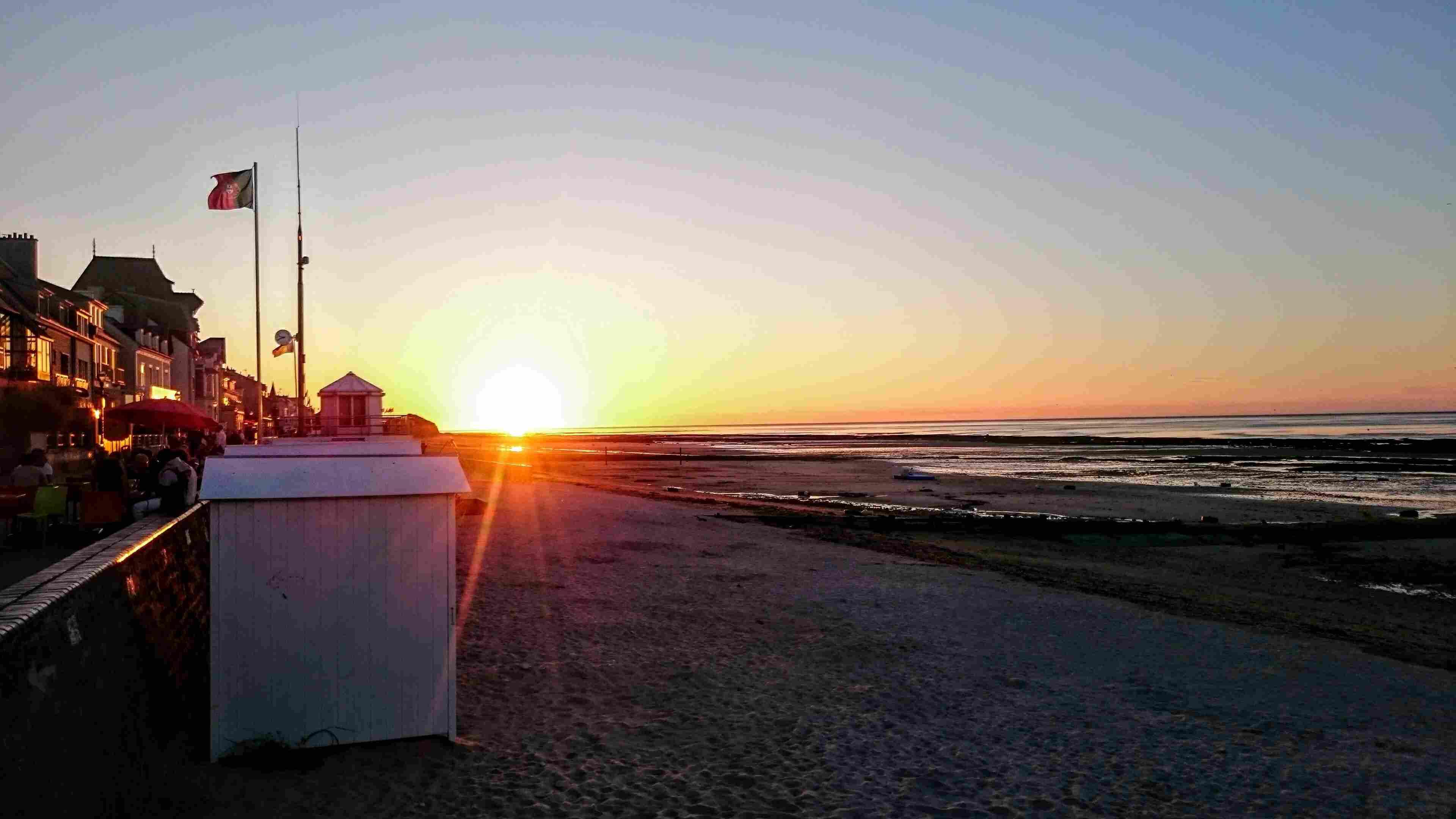 Caen at sunset
