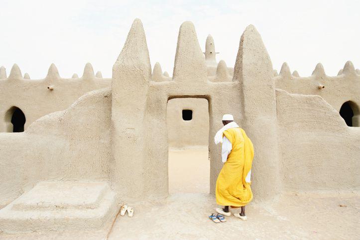 Man Entering Mosque, Sennissa, Mali