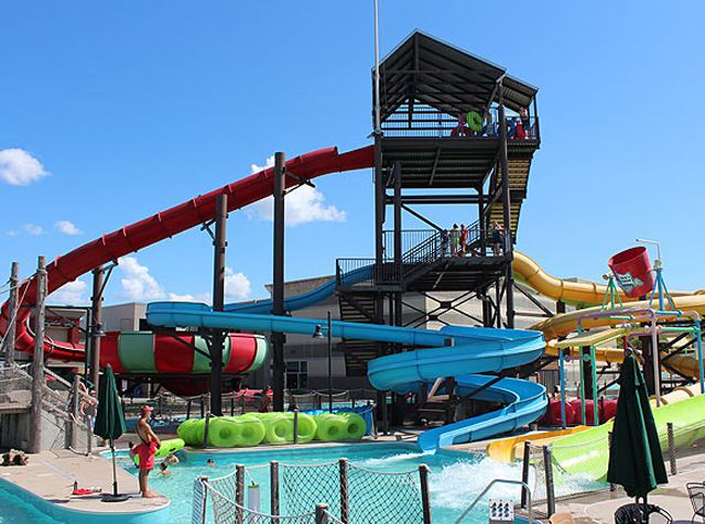 Huck's Harbor water park Iowa