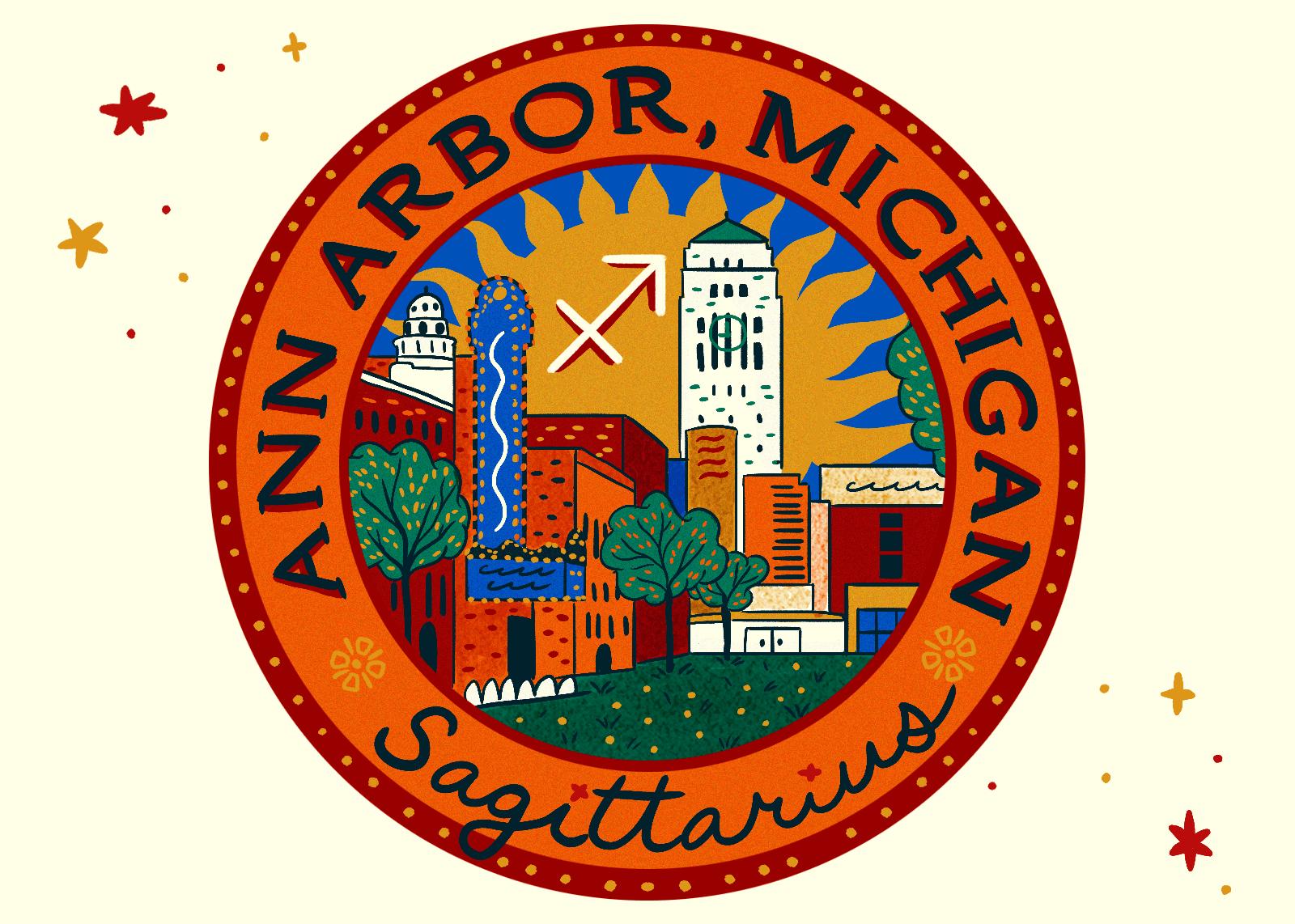 Illustration of Ann Arbor, Michigan