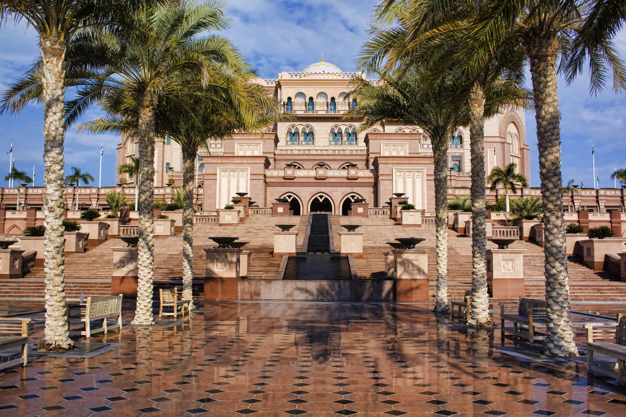 Exterior view of Abu Dhabi's Emirates Palace Hotel