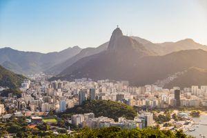 Scenic View of Rio de Janeiro from Pao de Acucar Mountain, Brazil