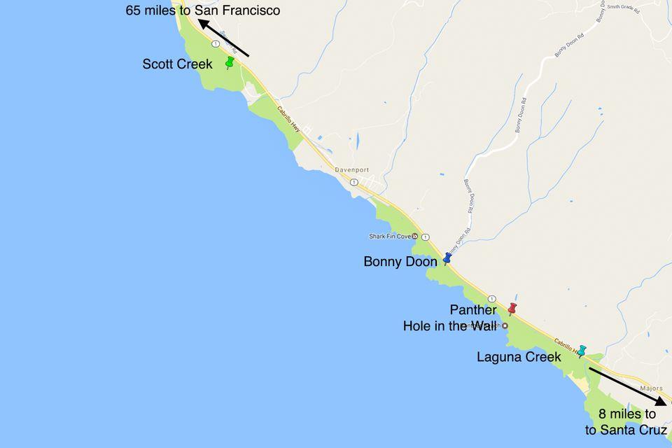 Bonny Doon Nude Beach Santa Cruz County California